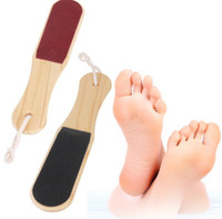 Wholesale Wood Foot Massager - 2017 hot Double-sided Foot File Pedicure Tool Feet Dead Skin Coarse Callus Remover Foot Care Wood Double-sided Foot File Pedicure Tool