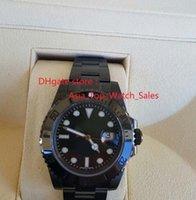 Wholesale Luxur Watches - Top quality luxur Brand New New Luxury Sapphire Bamford Ceramic Black Bezel Dial 16610 116610 automatic Men's Watches wristwatch