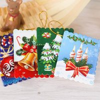 Cartes de Noël Imprimé Ornements de Noël Wishing Card 7X5Cm Sweet Wish Lovely pour Birthday Kids Gift With Retail Package