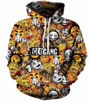 Wholesale Newest Women S Classic - Newest Fashion Women Men Classic Cute Cartoon Glo Gang Harauku Style Funny 3d Printed Crewneck Hoodies W08