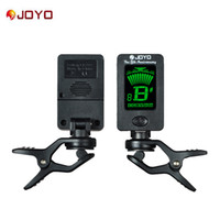 Wholesale Black Violin Bass - JOYO JT-01 Chromatic Clip-On Digital Tuner 360 Degree Rotatable guitar Tuners machines for Guitar Bass Violin Ukulele