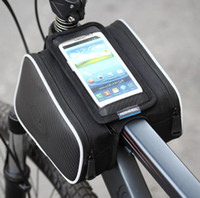 Wholesale Bike Bag Cellphone - Fashion Roswheel Waterproof 1.8L Cycling Bike Bicycle Front Frame Bag Tube Pannier Double Pouch for 5.5 inch Cellphone 12813
