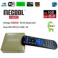Wholesale Marshmallow Wholesale - Android 6.0 marshmallow TV Box Quad-core 1GB 8GB 4K 3D Android TV Box HD 1080P Kd 17.0 Media Player MECOOL HM8