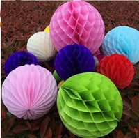 Wholesale Cheapest Chinese Lanterns - Cheapest!!!4-10 inches honeycomb ball 2017 wedding props supplies wedding party layout shopping mall window decoration, d03