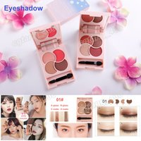 Wholesale Mix Matter - 2017 MEIKOGEE cosmetics 4 colors eyeshadow best quality gloss and matter mixed eye shadow free shipping