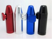 Wholesale Free Rolling Papers - Wholesale bullet aluminum metal snuff snorter smoking pipe shisha hookah grinder gift rolling machine paper glass bong vaporizer pill box