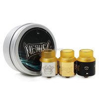 Wholesale Two Hole Atomizer - MEDUSA RDA Atomizer With PEI Wide Bore Drip Tips Two Thick Heavy Duty Post Design Adjustable Air Holes DHL Free