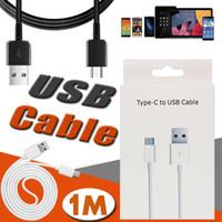 android kabel-boxen großhandel-1 Mt 3FT Typ C Micro USB Kabel Snyc Datenkabel Ladeadapter Kabel Ladegerät Für Telefon 8 7 6 Plus Samsung Sony Android Mit Kleinkasten