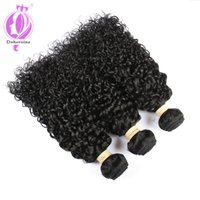 Wholesale 3 bundles of brazilian hair - Malaysian Curly Hair Bundles Pack of Unprocessed Remy Cheap Human Hair Weave Extensions Natural black Color