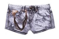 Wholesale Jeans Boxer Shorts - Wholesale-Free shipping, Fashion men jeans box shorts for men, bamboo fiber, boxer