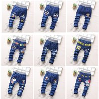 Wholesale Wholesale Good Jeans - children jeans trousers spring long pants 2-5years baby kids cowboy good quanlity 20 colors britches free shipping