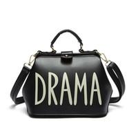 Wholesale Doctor Hard - Wholesale-Designer handbags high quality top-handle bags DRAMA 2016 small PU leather bag ladies shoulder doctor bag Gold Silver Black