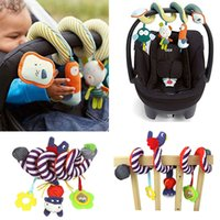 Wholesale Iq Baby Toys - Wholesale- Toys For Children Baby Rattles Newborn Infant Bed Crib Hanging with Bell Bed Stroller Baby IQ Development Stroller Accessories