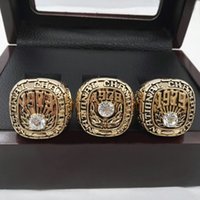 Wholesale Alabama Rings - 1973 1978 1979 Alabama red tide championship rings 3pcs set with wooden box