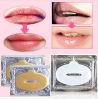 lippenfilm großhandel-Crystal Collagen Lip Masks Feuchtigkeitsspendende Maske für die Haut Lip Film Gold Collagen Protein Crystal Moisturizing Lip Film KKA2033