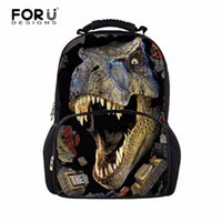 Wholesale Backbag Child - Wholesale- Designer Large 3D Dinosaur School Backpacks for Children Men Printing Tourism Bag Women Leopard Backbag Fashion Animal Backpack