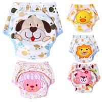 Wholesale Small Baby Diapers - Lovely Unisex Cartoon Baby Training Soft Pants Baby Underwear Reusable Cloth Diapers