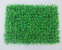 Wholesale 60cm cm Artificial Grass plastic boxwood mat green grass lawn turf Outdoor Decorative SGS UV Proof Fake Ivy Fence Bush home decor