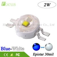 Wholesale Cob Led Watt - Wholesale- 20Pcs High Power LED Double Chip 2W COB White Blue 30mil Light Beads 2 Watt Use For DIY Aquarium Lights Car lamp