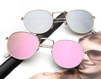 Wholesale Vintage Round Lens Sunglasses - 2017 New Small Round Polarized Sunglasses Mirrored Lens Unisex Glasses Men Retro Brand Women Vintage Sun glasses