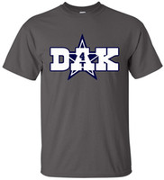 Wholesale Quick Charcoal - Charcoal Dallas Dak Adult 2017 new High Quality 100% Cotton men's T Shirt cheap sell Free shipping