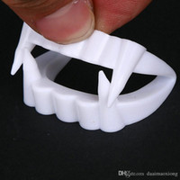 -1pcs New Toy Vampire Fake Teeth para Halloween Party Prop Masquerade Cosplay Maquiagem Drent Dentures Frete Grátis NB0449