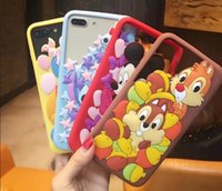 Wholesale Cartoon Mouse Cases - 3D Cartoon mickey minnie mouse winnie bear Phone Silicone Case Soft Cover For iPhone 6 i7 7 8 Plus goophone iphone 7 i8