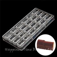 cremas ecológicas al por mayor-24pcs diy chocolate chocolate claro policarbonato molde plástico, fiesta hecha a mano chocolate molde de PC, herramientas de chocolate