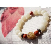 Wholesale Enamel Tiger - The fashionable new white bodhi root of the white bodhi root of the hand chain weathered tiger tabby and red jasper new product spot
