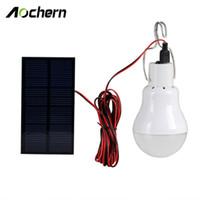 ampoules solaires d'intérieur achat en gros de-Vente en gros- Aochern Lampe solaire extérieure / intérieure alimentée par le système d'éclairage led Lumière 1 ampoule panneau solaire Low-camp camp voyage de nuit # C1004