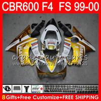 Wholesale 99 honda cbr for sale - Group buy 8Gifts Colors Bodywork For HONDA CBR F4 CBR600F4 FS Gold white NO90 CBR F4 CBR600FS CBR600 F4 Fairing Kit