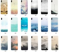 Wholesale Drawing Skin Iphone - Colored Drawing Scenery Clear Soft TPU Gel Slim Mountain City Sunset Ocean Natural Landscape Skin Cover Case for iPhone X 8 Plus 7 6 6S