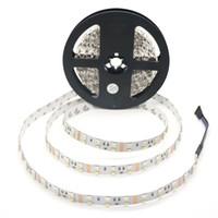 tiras de doble rollo led al por mayor-5M / Roll RGBW / WW Luz de tira LED Doble fila 60leds 5050RGB + 60leds 2835 Blanco / Blanco cálido No resistente al agua PCB blanco