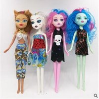 modelos de vestidos de desenhos animados venda por atacado-INS QUENTE Monster High Dolls High School Meninas Bonecas para Meninas Recheado Animais Figura Dos Desenhos Animados Modelo de Vestir Brinquedos Navio por DHL