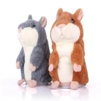 Wholesale Speaking Hamster Wholesale - Lovely Talking Hamster Plush Toy Hot Cute Speak Talking Sound Record Hamster Talking Toys for Children 15cm 6 inches C2027