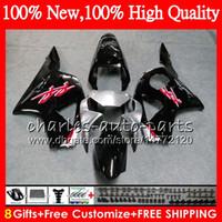 Wholesale Honda Cbr 954 Bodywork - Body For HONDA CBR900RR CBR954 RR CBR954RR 02 03 CBR900 RR Bodywork HM.7 Black silvery CBR 900RR CBR 954 RR CBR 954RR 2002 2003 Fairing kit