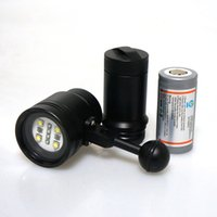 Wholesale Underwater Video Lights - Wholesale-2016 Meikon 2400LM Diving Torch Light Lighting for Underwater Waterpoof Video Camera Photography for Diving Scuba