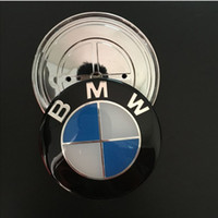 Wholesale Bmw Hubs - 74 mm blue Auto Wheel hub COVERS center emblem For Derivative universal fit for BMW X1X2 X3X4 X5X6X7