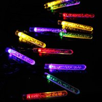 Wholesale Party Outdoors Lights Bar - Wholesale Solar Powered 4.8M 20LED Multicolor Ice Bar Light Outdoor Garden LED String Lamp for Party Wedding Christmas Tree Patio
