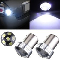 Wholesale Led 1156 Projector - White 1156 P21W 6 LED 2835 SMD Projector Car Auto Light Source Backup Reverse Parking Lamp Bulb DC12V