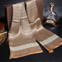 Wholesale Red Muffler - EURO CLASSIC Luxury Scarf For Man Best Brand Design Silk Scarfs Double-layers Business Casual Man's Muffler Soft And Comfotable Many Colors