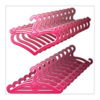 Wholesale form plastic - High Quality Barbie Dolls Hangers Pink Plastic Hangers For 11.5 Inch Barbie Dolls Clothes Display Hoder Dress Form Clothes