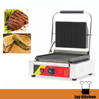 Wholesale Panini Press Grill - Commercial panini grill panini press griddle stainless steel panini maker electric breakfast sandwich maker 110v 220v