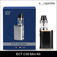 Wholesale electronic cigarette starter kit - ECT C30 mini starter kit e cigarette box mod vape mod met atomizer ml vaporizer mah electronic cigarette