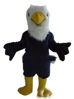 Wholesale Eagle Mascot Costume Cartoon - 2017 new Eagle Mascot Costume Adult Cartoon Character Outfit Suit Fancy Dress for Party Carnival EMS free shipping