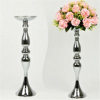 Wholesale Wedding Flower Vase Centerpiece - 12inch 20inch 43inch height metal candle holder candle stick wedding centerpiece event road lead flower stands rack vase home decoration