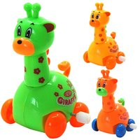 5pcs / lot New Arrival Wind Up brinquedo Animal Toddler Kid Giraffe Brinquedos Child Gift Educational Development Low Price