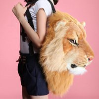 Wholesale Tiger Designed Backpacks - Wholesale- NEW 3D Animal Design Girls Backpack Tiger Lion Leopard Panda School Bags Luxury Women Chain Clutch Crossbody Shoulder Bags Purse