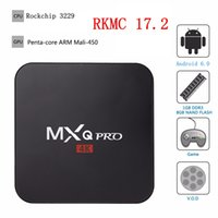 Wholesale Tv Smart Box Wifi - Mxq Pro TV Box Smart Android 6.0 RK3229 Quad Core 1GB 8GB EMMC Fully Loaded 17.2 WiFi 4K 3D HDMI 2.0 Media Player