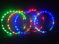Wholesale Build Flash - New Colorful Light Flash LED Plus Hula Hoop Glow in Dark Fitness Sports Fitness Body Building Equipments